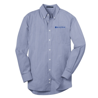 Port Authority® Plaid Pattern Easy Care Shirt - Navy